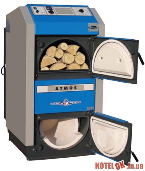 Твердотопливный котел ATMOS Kombi C40S