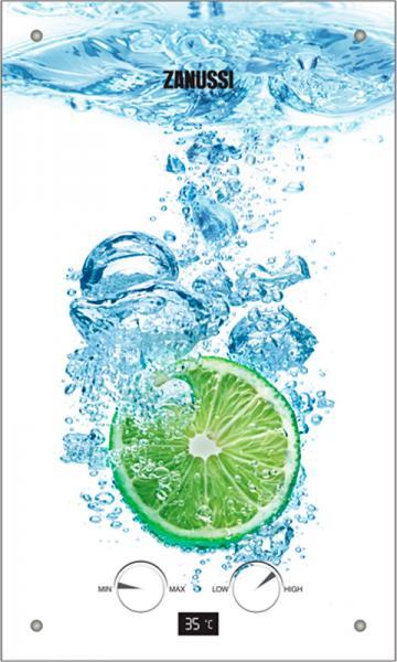 Газовый проточный водонагреватель ZANUSSI GWH 10 Fonte Glass Lime