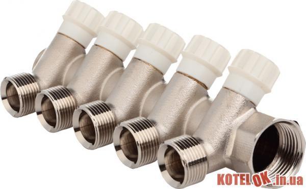 Коллектор вентильный FADO под евроконус 1′′x3/4′′ 5 отверстий (8008261030431) (KVE15)