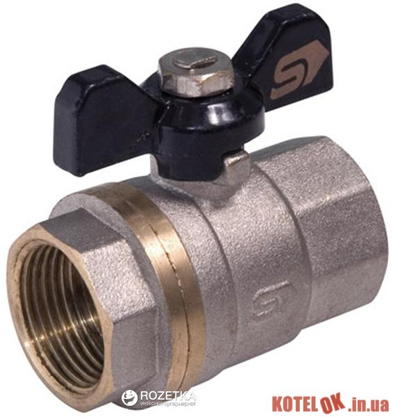Кран шаровой SLOVARM KE-230E бабочка В/В эксклюзив PN30 DN20 (8585031031343)
