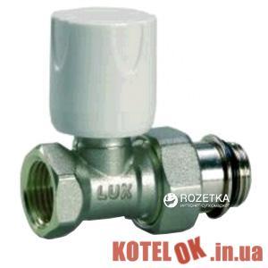 Кран радиаторный LUXOR термостатический с уплотнителем проходной 1/2″ (2270118571015)