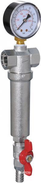 Фильтр GRANDINI промывной с манометром и краном 1/2″ (XF82772С1/2)