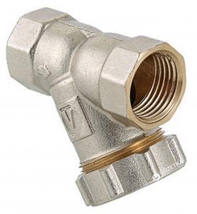 Фильтр VALTEC механической очистки косой 1/2″ (c заглушкой) (VT.193.N.04)