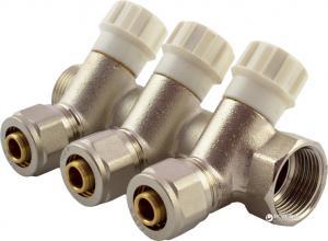 Коллектор вентильный FADO с фитингом 3/4′′x16 3 отверстия (8008261020234) (KVO03)